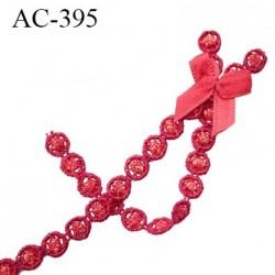 Noeud décor lingerie couleur rouge haut de gamme hauteur 100 mm largeur 20 mm