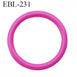 anneau 15 mm en pvc  couleur fushia diamètre intérieur 15 mm diamètre extérieur 19.5 mm épaisseur 2 mm
