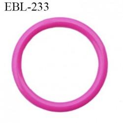 anneau 14 mm en pvc  couleur fushia diamètre intérieur 14 mm diamètre extérieur 17 mm épaisseur 1.7 mm