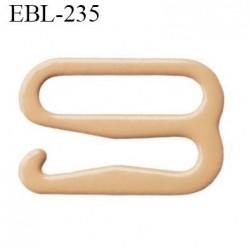 Crochet 18 mm de réglage de bretelle  soutien gorge en métal chair brillant largeur intérieur 18 mm largeur extérieur 22.5 mm