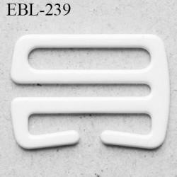 Crochet métal 12  mm plastifié largeur intérieur de passage de bretelle 12 mm haut de gamme largeur extérieur 16.2