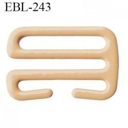 Crochet 12 mm de réglage de bretelle  soutien gorge en métal chair brillant largeur intérieur 12 mm largeur extérieur 16.2 mm