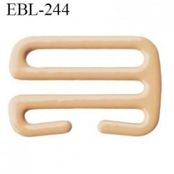 Crochet 15 mm de réglage de bretelle  soutien gorge en métal chair brillant largeur intérieur 15 mm largeur extérieur 19 mm