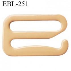 Crochet 19 mm de réglage de bretelle  soutien gorge en métal chair brillant largeur intérieur 19 mm largeur extérieur 25 mm