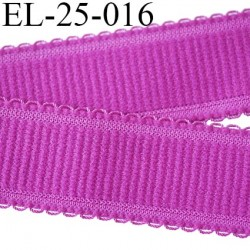 Elastique 25 mm bretelle et lingerie et autre très  belle qualité  40 % d'élasticité couleur pivoine largeur 25