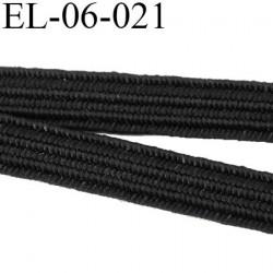elastique couture 6 mm  couleur noir largeur 6 mm prix au mètre