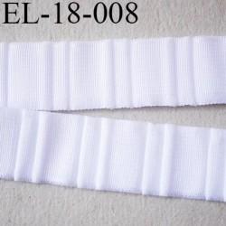Elastique 18 mm bretelle et lingerie et autre très  belle qualité  40 % d'élasticité couleur blanc froncé largeur 18 mm