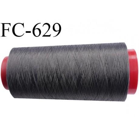 Cone de fil mousse 1000 mètres polyamide fil n° 100/2 couleur anthracite longueur 1000 mètres bobiné en  France