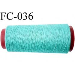 Cone de fil mousse 2000 m polyamide fil n° 100 couleur vert  longueur du cone 2000 mètres bobiné en France