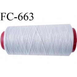 Cone de fil mousse 1000 m polyamide fil n° 100 couleur gris clair argenté  longueur du cone 1000 mètres bobiné en France