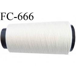 CONE 2000 mètres fil polyester et coton fil n°150 pour surfilage couleur naturel  longueur de 2000 mètres bobiné en France