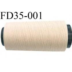 Destockage  cone 2000 m fil  polyester  fil n°165 couleur beige longueur du cone 2000 mètres bobiné en France