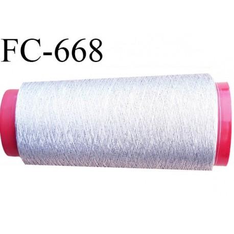 Cone 2000 m de fil couleur  argent brillant  composition 58 % polyester continu et polyester métalisé 42 % bobiné en france