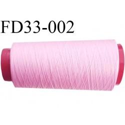 Destockage cone de 2000 m de fil mousse polyamide fil n°120 couleur rose longueur du cone 2000 mètres bobiné en France