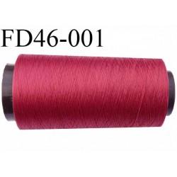 Destockage cone de 2000 m de fil mousse polyester n° 165 couleur bordeaux rouge longueur du cône 2000 mètres bobiné en France