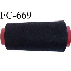 Cone fil 2000 m 30 % coton 70 % polyester fil n° 120 haut de gamme couleur noir bobiné en France