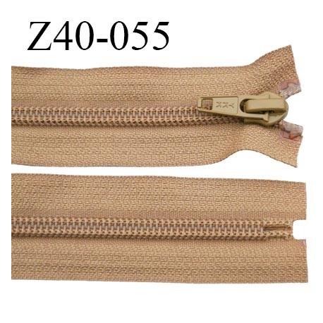 fermeture 40 cm ykk non séparable couleur marron clair largeur 3.2 cm largeur de la glissière nylon 6.5 mm