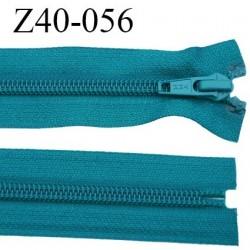 fermeture 40 cm ykk non séparable couleur vert bleu canard lumineux largeur 3.2 cm largeur de la glissière nylon 6.5 mm