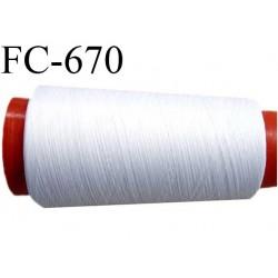 CONE de 1000 m de fil mousse polyamide fil n° 125 couleur blanc  longueur de 1000 mètres bobiné en France