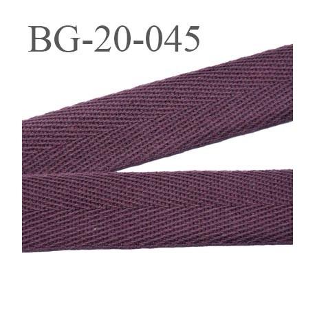Biais Serge 20 Mm 100 Coton Couleur Prune Ou Lie De Vin Largeur 20 Mm Souple Et Tres Doux Prix Au Metre Mercerie Extra