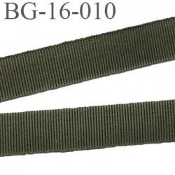 galon 16 mm gros grain  synthétique couleur vert kaki largeur 16 mm prix au mètre