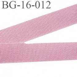 galon 16 mm gros grain  synthétique couleur rose camélia largeur 16 mm prix au mètre