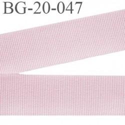 galon 20 mm gros grain  synthétique couleur rose clair largeur 20 mm prix au mètre