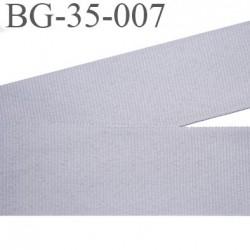 galon fin  35 mm gros grain  synthétique couleur gris largeur 35 mm prix au mètre