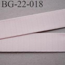 Devant bretelle 22 mm en polyamide attache bretelle rigide  pour les anneaux couleur candy ou rose pétale prix au mètre