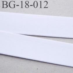 Devant bretelle 18 mm en polyamide attache bretelle rigide  pour anneaux couleur blanc prix au mètre