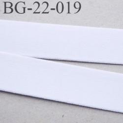 Devant bretelle 22 mm en polyamide attache bretelle rigide  pour les anneaux couleur blanc prix au mètre