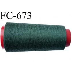 CONE de 2000 m fil polyester fil n° 120 couleur vert longueur de 2000 mètres bobiné en France