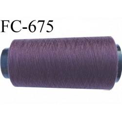 Cone 1000 m de fil mousse  polyester fil n°160 couleur lie de vin   longueur  2000 mètres bobiné en France