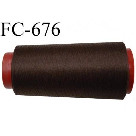 Cone 1000 m de fil mousse  polyester fil n°110 couleur marron foncé  longueur  1000 mètres bobiné en France
