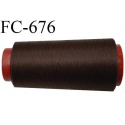 Cone 2000 m de fil mousse  polyester fil n°110 couleur marron foncé  longueur  2000 mètres bobiné en France