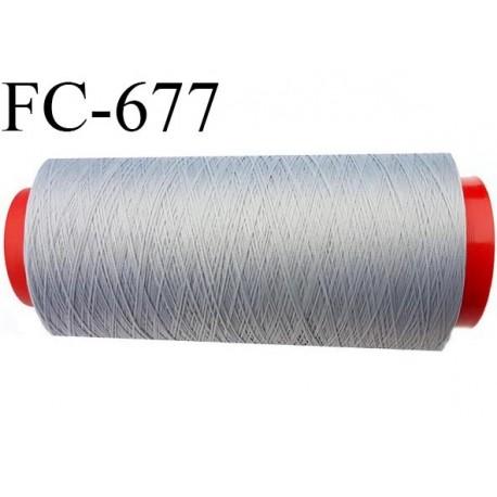 Cone 1000 m de fil mousse  polyester fil n°160 couleur gris   longueur  1000 mètres bobiné en France