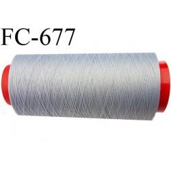 Cone 2000 m de fil mousse  polyester fil n°160 couleur gris   longueur  2000 mètres bobiné en France