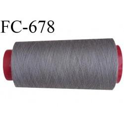 Cone 1000 m de fil mousse  polyester fil n°160 couleur gris foncé longueur  1000 mètres bobiné en France