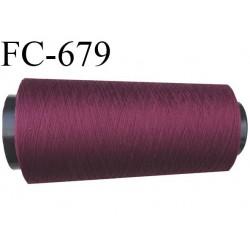 Cone 5000 m de fil mousse  polyester fil n°160 couleur lie de vin longueur 5000 mètres bobiné en France