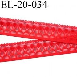 Elastique 20 mm picot style dentelle lingerie couleur rouge largeur 20 mm 80% polyamide 20% elastane prix au mètre