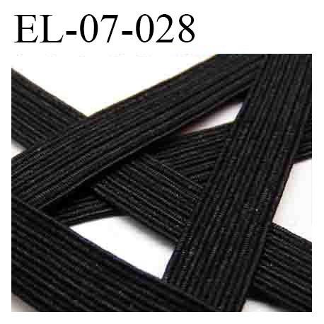 Elastique couture 7 mm couleur noir largeur 7 mm prix au mètre