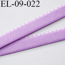 élastique 9 mm bretelle et lingerie couleur lilas mauve largeur 9 mm haut de gamme prix au mètre