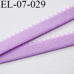 élastique 7 mm bretelle et lingerie couleur lilas mauve largeur 7 mm haut de gamme prix au mètre