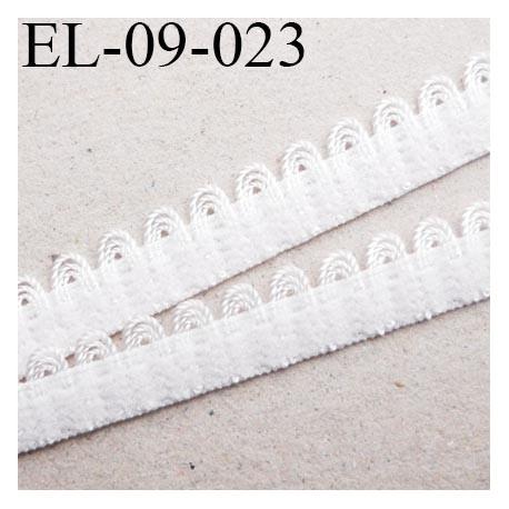 élastique picot lingerie couleur Naturel largeur 8 mm haut de gamme prix au mètre