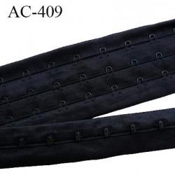 Bande Agrafe 28.5 mm bande agrafe de soutien gorge 3 rangés 3 crochets largeur 28.5 mm hauteur 55 mm couleur noir