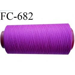 Cone 5000 mètres de fil mousse polyamide fil n°120 couleur pivoine  bobiné en France