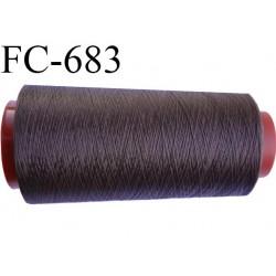 Cone de fil mousse 1000 mètres polyamide fil n° 100/2 couleur MARRON longueur 1000 mètres bobiné en  France