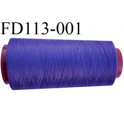 Cone (en déstockage ) de fil mousse polyamide n°120 couleur violet tirant sur le bleu longueur  2000 mètres bobiné en France