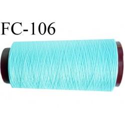 Cone 1000 m fil mousse polyamide n° 100/2 couleur bleu longueur