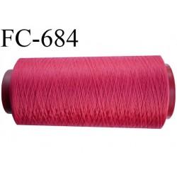 Cone 1000 m mousse polyamide fil n° 100/2 couleur rouge tirant sur le framboise longueur du cone 1000 mètres bobiné en France